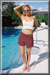 Natural Eco Friendly, Allergy Free Organic Women's Shorts.