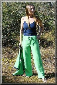 Hemp Capri Yoga Pants.