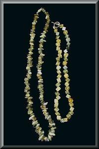 Duo Of Labradorite Crystal Necklaces.
