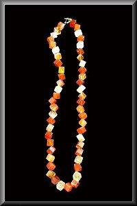 Golden Agate Diamond Cut Necklace.