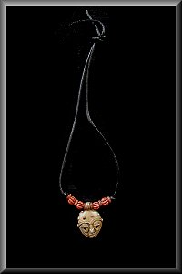 Tribal Mask Necklace.